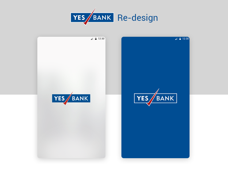 Yes Bank Re-design launch screen bank mobile android ux ui