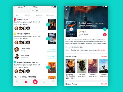 Discover and details screen tags ios list details card ux ui