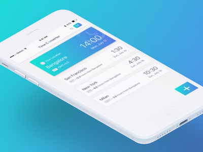 Time Zone Concept concept time zone ios ux ui