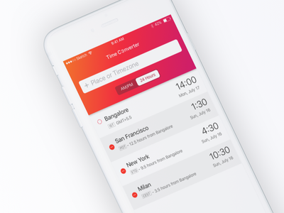 Time Zone Concept_02 ui ux ios time zone concept