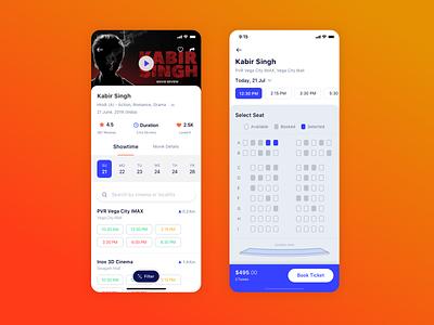 Movie Ticket Booking uidesign ticket movie design app mobile ios ui