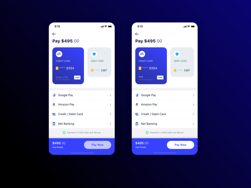 Payment Options minimal payment design app mobile ios ui