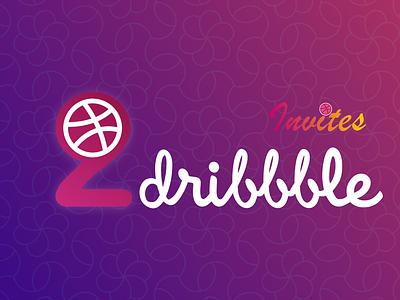 2 Dribbble invites ui illustrator card invites