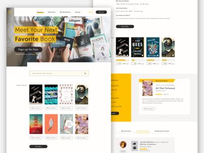 Book app redesign - visual design practice