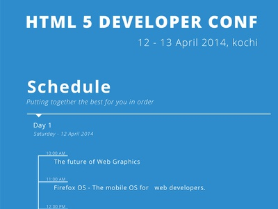 HTML 5 Developer Conference html html5 developer conference conference devconf cochin kochi india kerala
