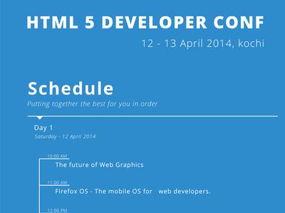HTML 5 Developer Conference