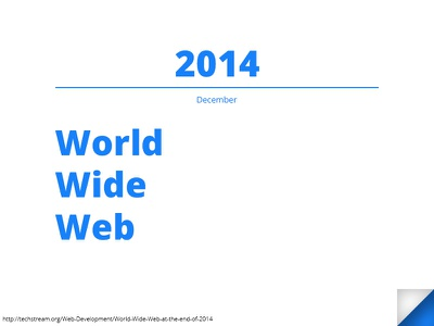 World Wide Web At The End Of 2014 worldwideweb 2014 pageturn year
