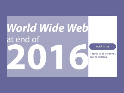 World Wide Web At End Of 2016