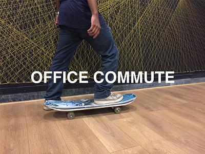 Office Commute  commute office skateboard