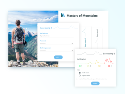 Sign up Page for Hiking Site | Daily UI #001