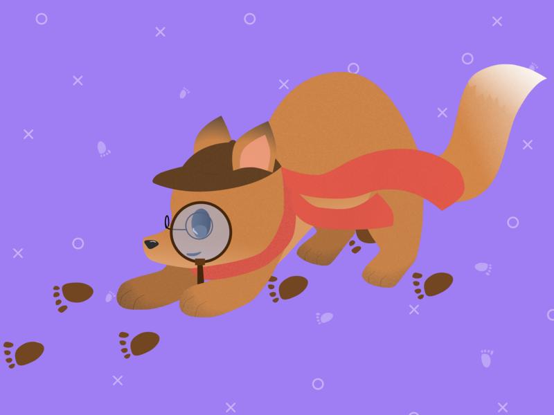 Sherlock Fox at your service... fox logo fox animals logo animals vector logo design illustration