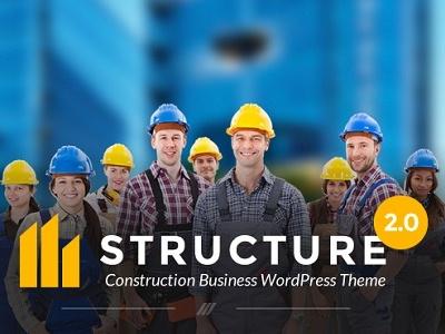 Structure - Construction Business WordPress Theme premium wordpress theme construction wordpress theme workshop theme builder theme architecture wordpress theme handyman
