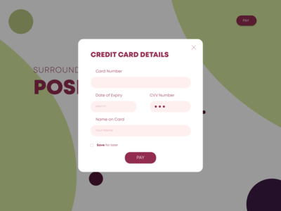 Daily UI :: 001 | Credit Card Form