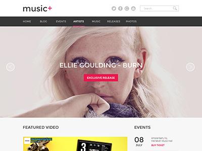 Music homepage