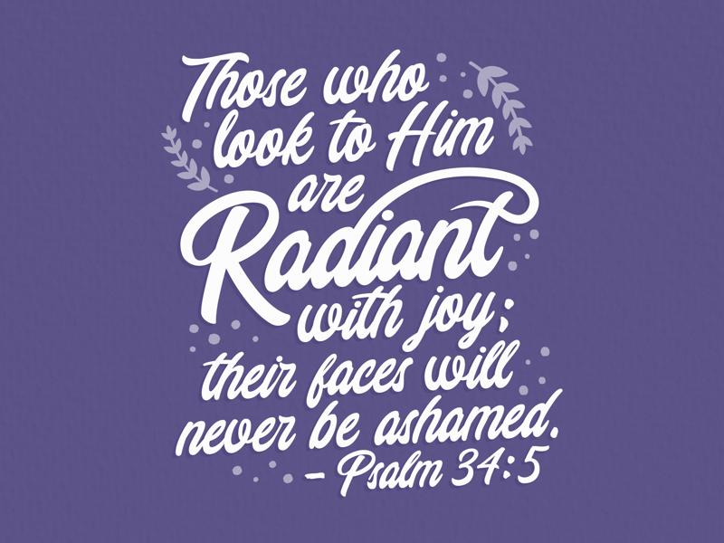 Radiant purple vector illustrator woman women typography lettering quote bible verse bible
