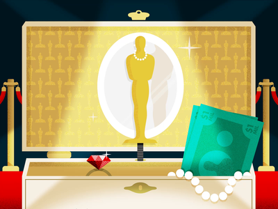 2019 Academy Awards Animation movies glamour celebrities actors jewelry nominees red carpet hollywood award show after effects animation illustration oscars academy awards
