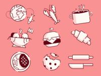 Chef Cuisine Icons