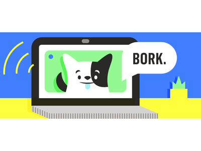 Bork. furry friends illustration veterinarian puppy pup organic pets health multivitamins vet supplements doggos dogs