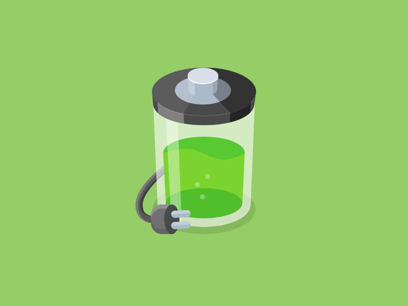 Battery sketchapp battery illustration flat style