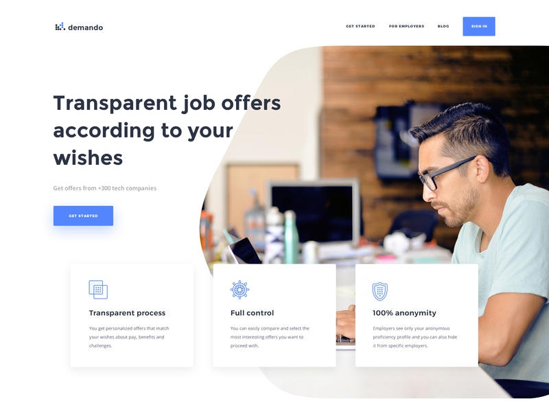 Demando - Recruitment Marketplace Billboard job employers talent candidates job search saas tech talent tech recruitment recruitment marketplace