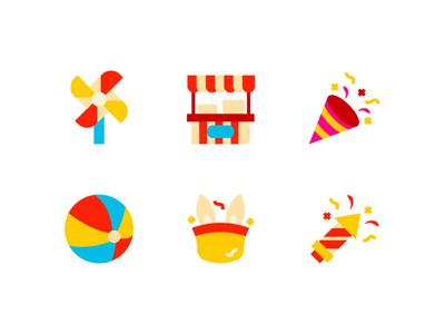 Carnival icon set