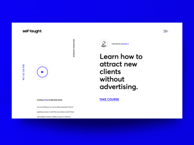 Landing Page for Course