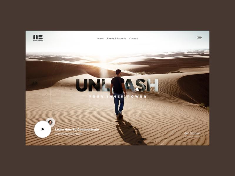 Unleash You Inner Power - Hero hero banner website design ux ui website design landing page web design hero
