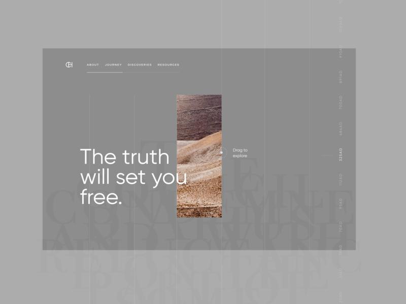 Decoded modern gray website grey gray web design ui