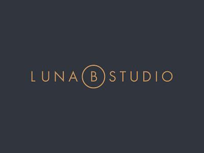 Luna B Studio Logo navy gold identity branding typography type minimalist clean futura logo logotype