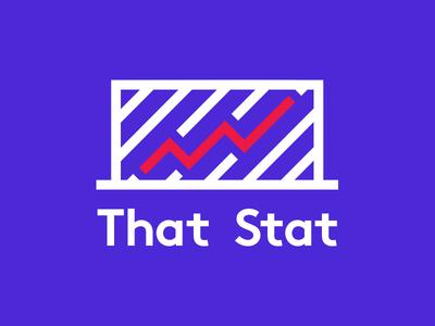 That Stat Logo Concept statistics stats symbol icon logotype logo goals soccer football