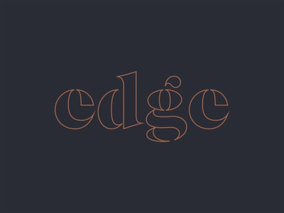 Logo Concept for Catering Company typography wordmark e catering branding symbol monogram logotype logo