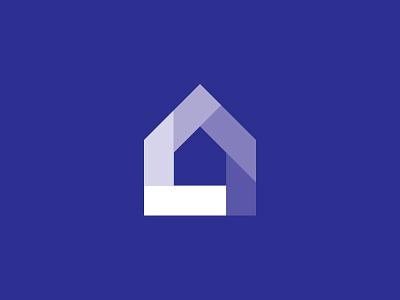 Glass Company Logo Concept concept building gradient blue mark logomark logo glass