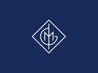 IGM Monogram initials concept blue typography type logomark logo monogram