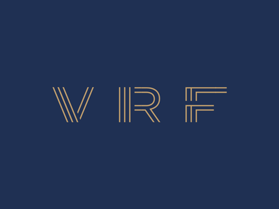 Financial Logo Concept initials typography f r v symbol logotype brand finance concept branding logo