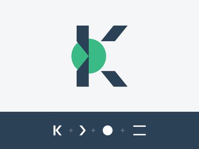 Cryptocurrency Logo arrow coin circle branding cryptocurrency crypto k icon logo symbol logomark