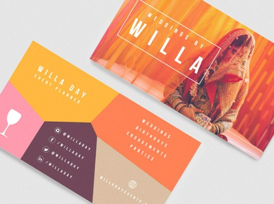 Custom Event/Wedding Planner Business Card