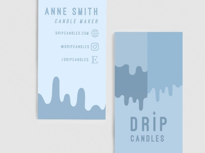 Drip Candles Custom Business Cards