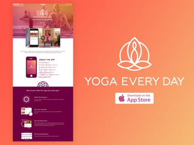 """Yoga Every Day"" App Landing Page"