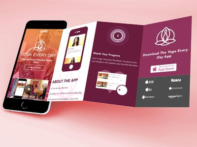Yoga Every Day app landing page - mobile friendly