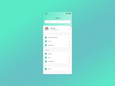 App Settings Design
