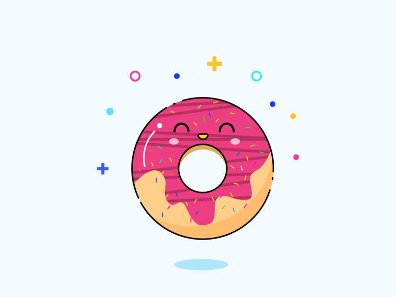 Doughnut branding ui 图标 商标 illustration 设计 活版印刷 品牌 向量 吉祥物 插图