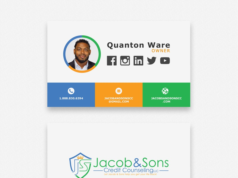 Jacob and Sons Business Cards business card design business cards