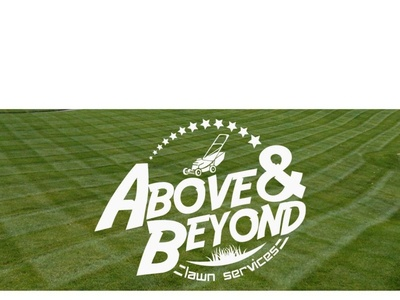 Above and Beyond Logo (Old) lawn care logo design