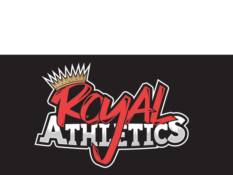 Royal Athletics gold sport gym illustrator vector calligraphy typography red crown design logo okc athletics royal