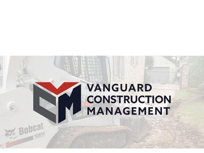 Vanguard Construction Management branding clean shape combo design logo management construction vanguard