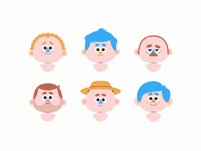 Head Study characters character faces face heads head illustrator illustration