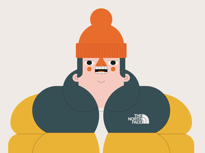 Ready for Winter illustration vector beanie jacket puffer winter