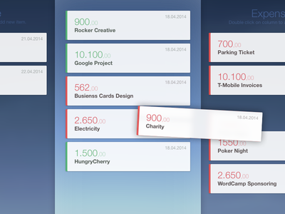 Cashflow app cashflow internal cards drag and drop dragging cash