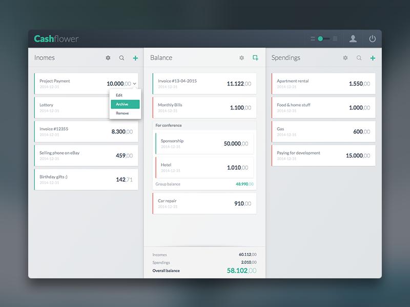 Cashflow app v2