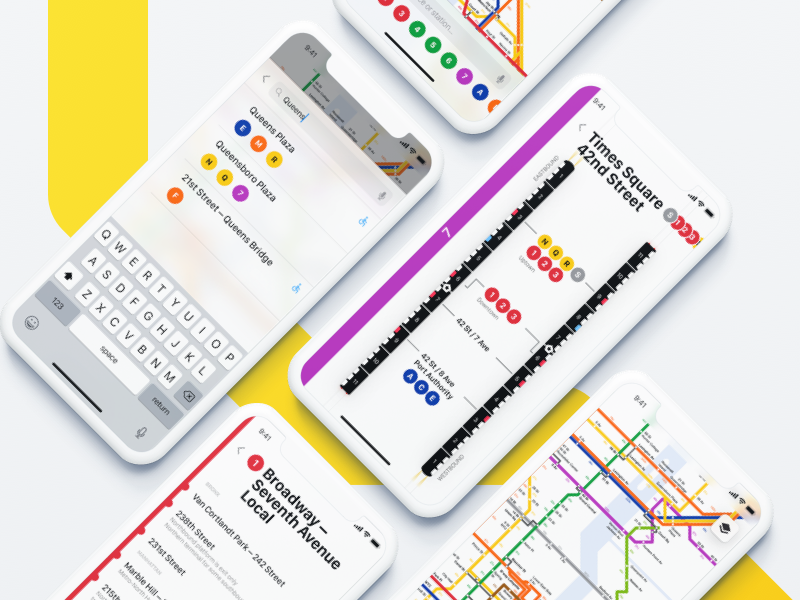 Iphone X Subway Map Nyc.Nyc Subway App By Pawel Ludwiczak For Rocker Creative On Dribbble
